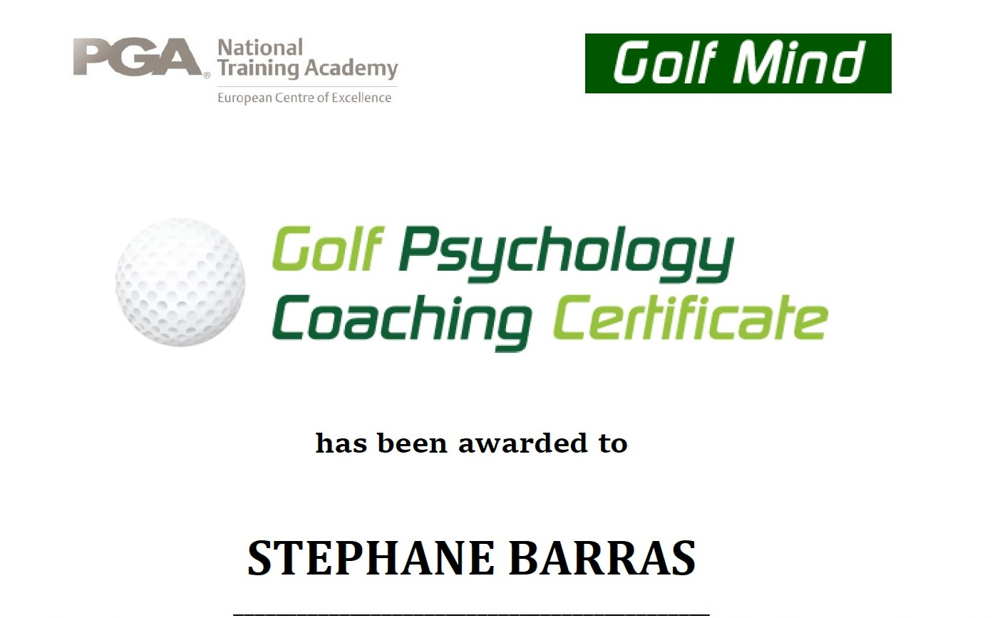 PsycoachCertificate